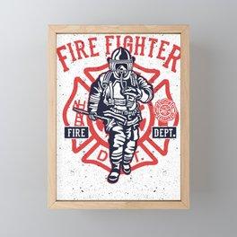 Fire Fighter Framed Mini Art Print