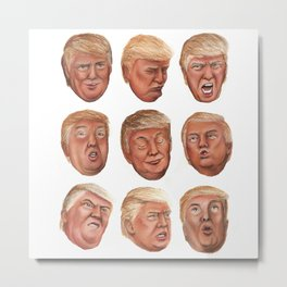 Faces Of Donald Trump Metal Print
