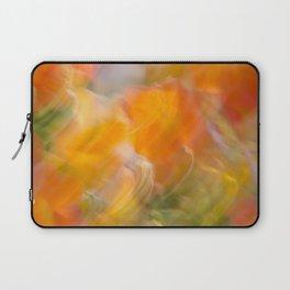 Sweeping Orange Strokes Laptop Sleeve