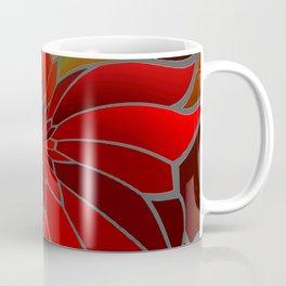 Abstract Poinsettia Coffee Mug