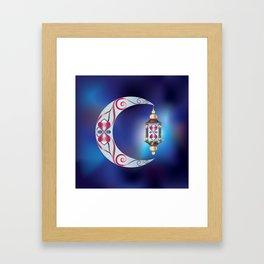 Lantern on the Moon Framed Art Print