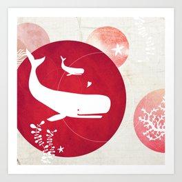 Ocean Series - Mama Whale Art Print
