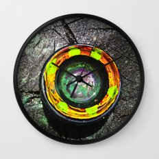 Camera Lens In The Wild Wall Clock
