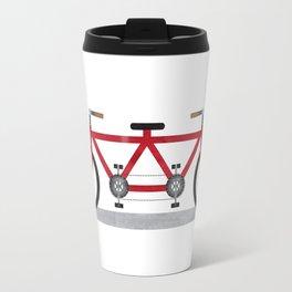 Broken Teamwork Tandem Bicycle Travel Mug
