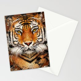 Tiger Profile Stationery Cards