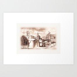 Via dei Fori Imperiali Art Print