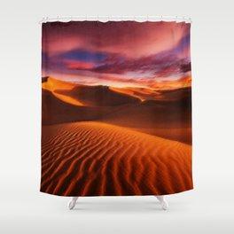 Arabian Sands Sunset Landscape by Jeanpaul Ferro Shower Curtain