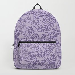 Purple Flower Doodle Backpack