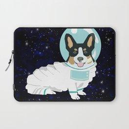 Corgi spacedog astronaut outer space tricolored corgis dog portrait gifts Laptop Sleeve