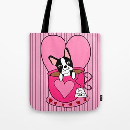 Boston Terrier Tea Tote Bag