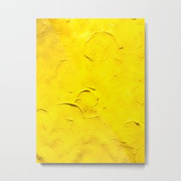 Yellow  Ripples Metal Print