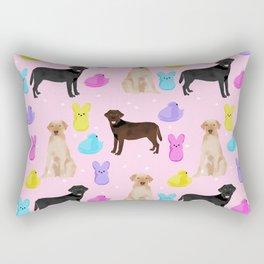 Labrador retriever dog breed peeps marshmallow treat easter spring dog gifts Rectangular Pillow