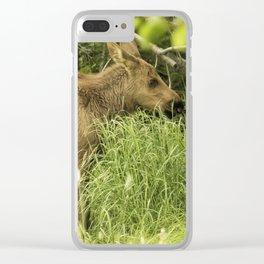 Moosedelicious, No. 3 Clear iPhone Case