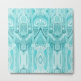 Totem and Tabou- tribal ink painting-geometry- african style Metal Print