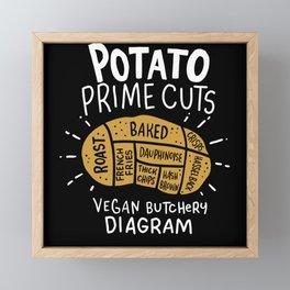 Vegan Vegan Potato Fillet Framed Mini Art Print