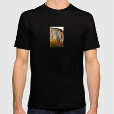 Somewhere in Rhode Island - Abandoned Mill 002 Mens Fitted Tee Black MEDIUM