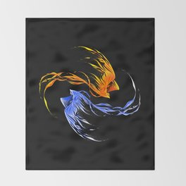 Phoenix Ice And Fire Throw Blanket