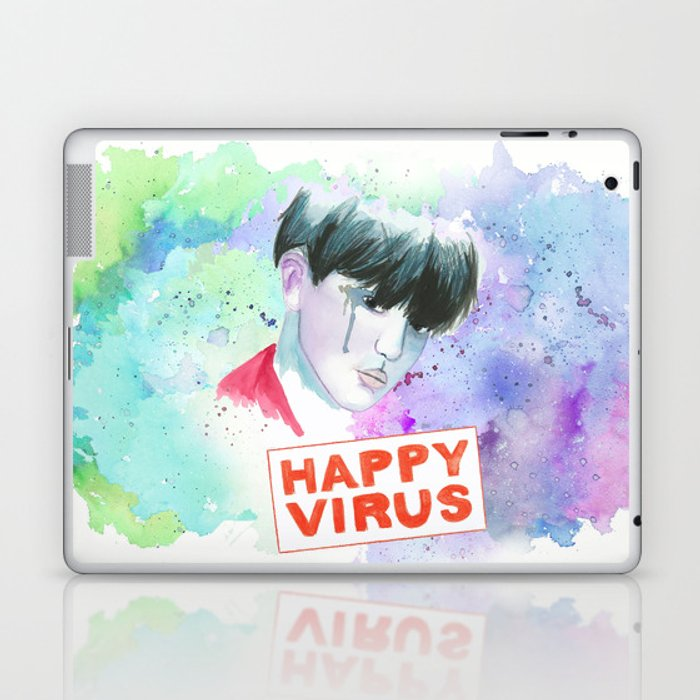 Happy Virus Laptop & iPad Skin by katkatekel