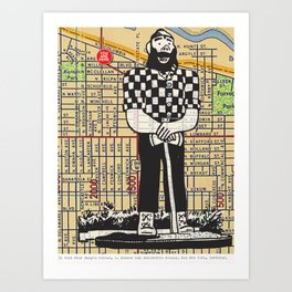 Paul Bunyan, North Denver at Interstate Avenue, You Are Here, Portland. Art Print