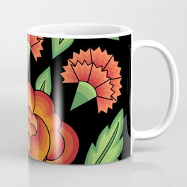 Mexican Folk Pattern – Tehuantepec Huipil flower embroidery Coffee Mug