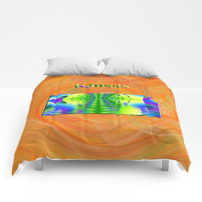 Kansas Map Comforters