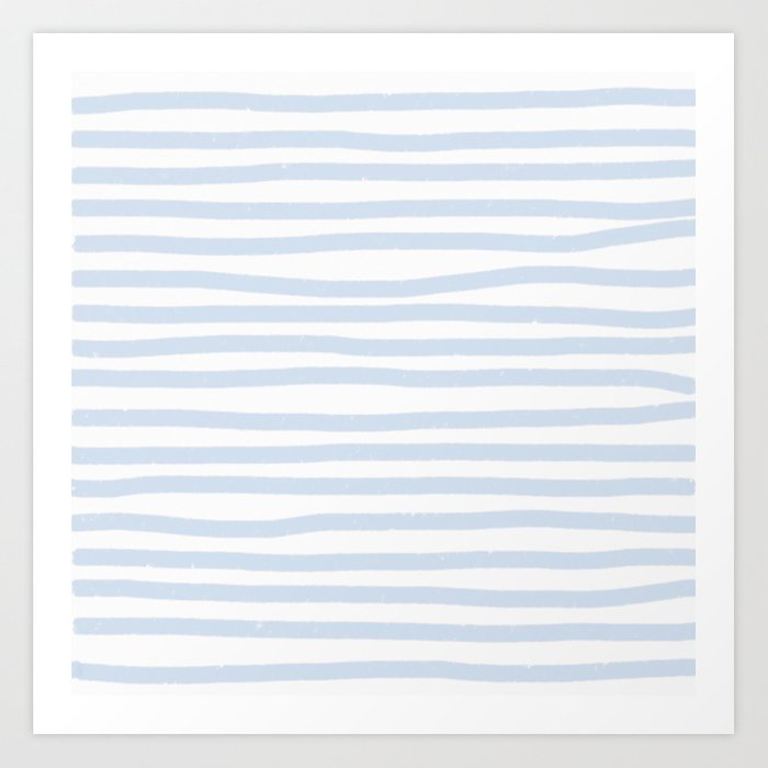 Light Blue Stripes Horizontal Art Print