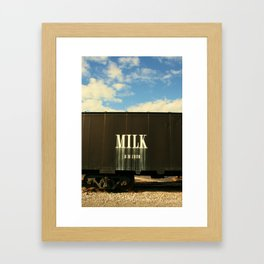 Milk Train Framed Art Print