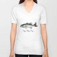 bass V-neck T-shirts featuring Bass by Newmanart7 -- JT and Nancy Newman, Art a