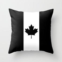 Canada: Black Military Flag Throw Pillow