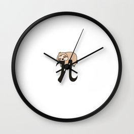 Sloth Funny Math Pun Pi Day Gift Math Science Lover Pi day Wall Clock