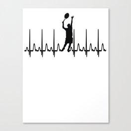 Heartbeat Tennis Gift Canvas Print