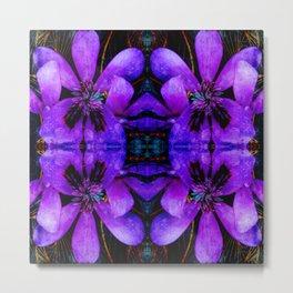 Purple flower geometry II Metal Print