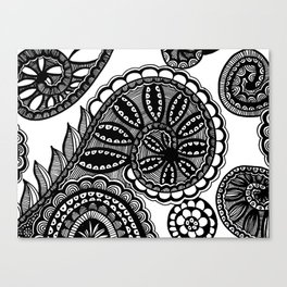 Waves and Spirals Canvas Print