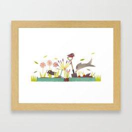 Allotment Framed Art Print