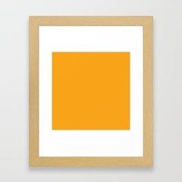 Orange Solid Color Framed Art Print