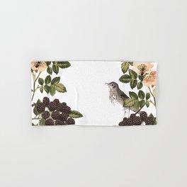 Blackberry Spring Garden - Birds and Bees Cream Flowers Hand & Bath Towel