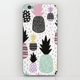 Summer pineapples in pastel color pop iPhone Skin