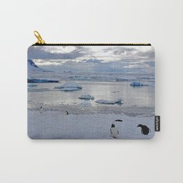 Gentoo Penguins on Ice Carry-All Pouch