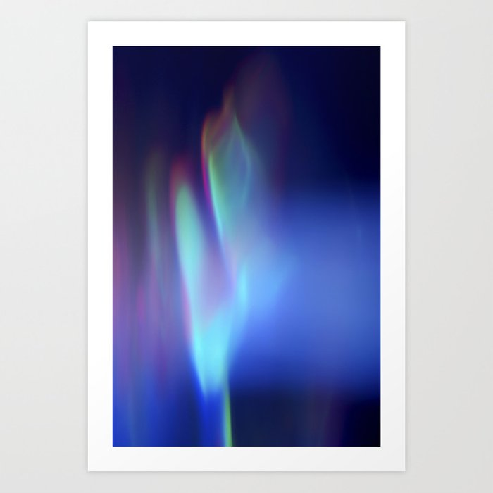 Heavenly lights in water of Life-1 Art Print