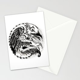 Crow Sun Stationery Cards