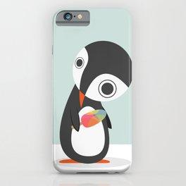 Pingu Loves Icecream iPhone Case