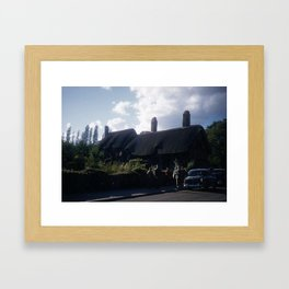 England Art Print * Vintage Photo * 1950's * Ann Hatheway * Cottage * Cars * Kodachrome Framed Art Print