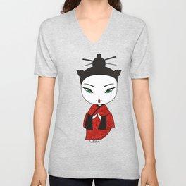 Geisha. Unisex V-Neck