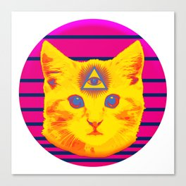 Cat God is Watching Canvas Print