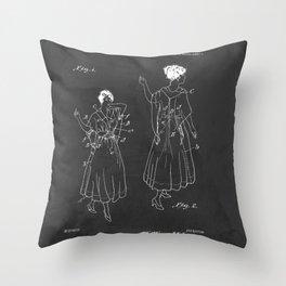 Vintage Fashion Negligee Patent Throw Pillow