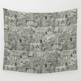 dystopian toile mono Wall Tapestry
