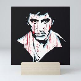 Scarface art portrait Mini Art Print