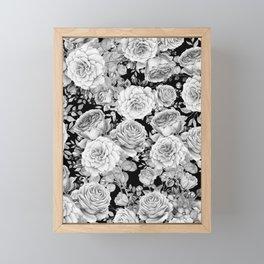 ROSES ON DARK BACKGROUND Framed Mini Art Print