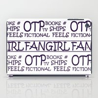 fangirl iPad Cases featuring Fangirl by amyskhaleesi