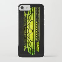 prometheus iPhone & iPod Cases featuring Prometheus - David 8 Crew Tag by Chubbybuddhist
